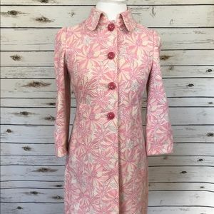 Elie Tahari Jacket Pink & Yellow 🌸 Floral Trench